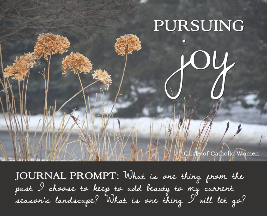 Lenten Journal Prompt: What is one thing from the past I choose to keep to add beauty to my current season's landscape? What is one thing I will let go?